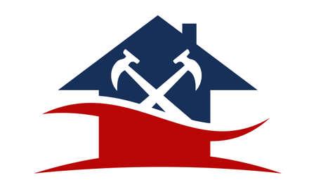 Szablon do naprawy logo budowy domu