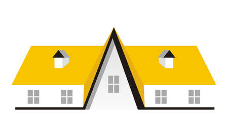 Real estate roof icon on white background, vector illustration.