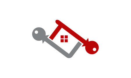 Home buy and sell icon on white background, vector illustration.