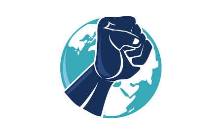 International human right day, vector illustration.