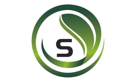 Leaf Initial S Logo Design Template Vector