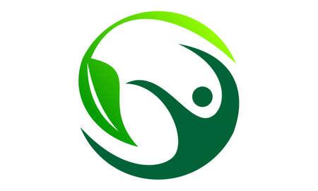 Complete Wellness Logo Design Template Vector