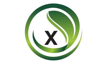 Leaf Initial X Logo Design Template Vector