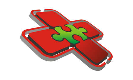 Health Puzzle Logo Design Template Vector Illustration