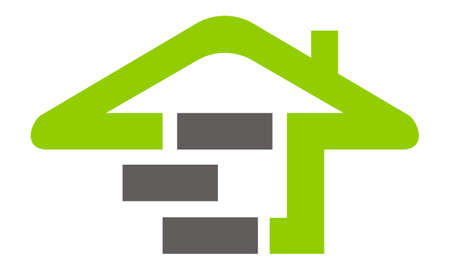 Eco Home Building icon logo vector illustration. Illustration
