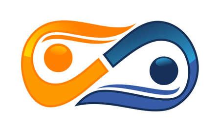 Coaching voor succes pictogram logo vectorillustratie. Stock Illustratie