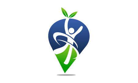 Nutritional Therapy Health Life icon logo vector illustration.  イラスト・ベクター素材