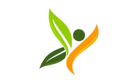 Eco Life Healthy icon logo vector illustration.