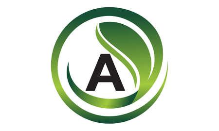 Leaf Initial A Logo Design Template Vector
