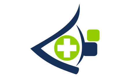 Healthcare Technology by Clinician icon logo vector illustration. Stock Illustratie