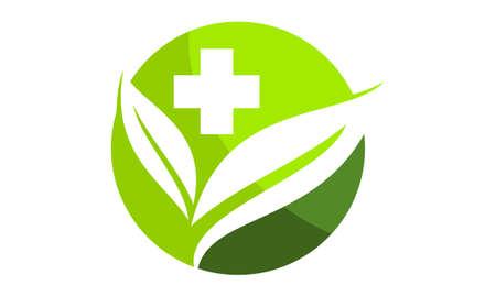 Herbal medicine Logo Design Template Vector Illustration