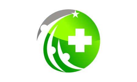 Healthy Care Community icon logo vector illustration. Illustration