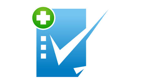Health Check Mark icon logo vector illustration.