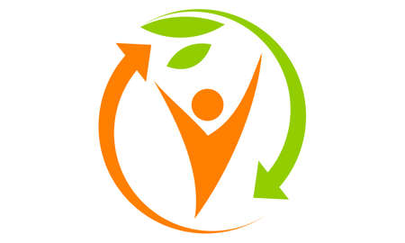 Zdrowa Holistyczna centrum ikony loga wektoru ilustracja. Ilustracje wektorowe