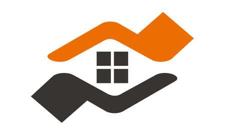 Home Buy Sell icon logo vector illustration. Illustration