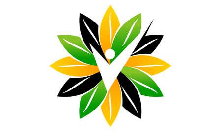 Nutritional Therapy Health Life icon logo vector illustration. Ilustração