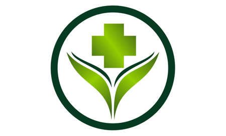 Alternative Medicine Healthy icon logo vector illustration.