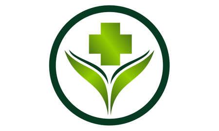 Alternative Medicine Healthy icon logo vector illustration.