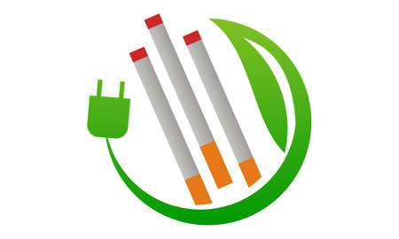 Electrical cigarette for Healthy icon logo vector illustration.