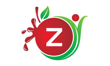 Health Fruit Juice Initial Z good for logo.