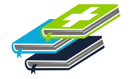 Health Books Logo Design Template Vector