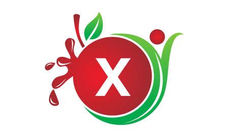 Health Fruit Juice Initial X Illustration