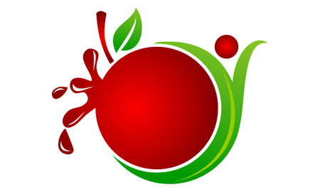Health Fruit Juice vector icon Illustration