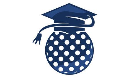 Golf School Graduation Cap icon