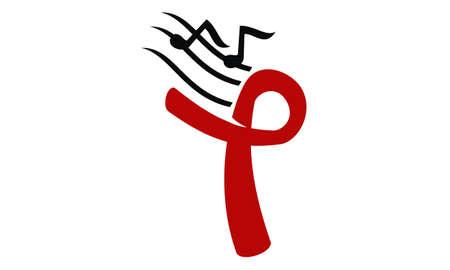 Music Charity Logo Design Template Vector Illustration