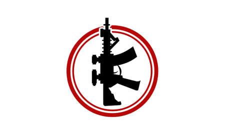 Modelo de design de logotipo de modelo de arma Foto de archivo - 91580982