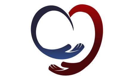Hand Love Design Template Vector Ilustração Vetorial