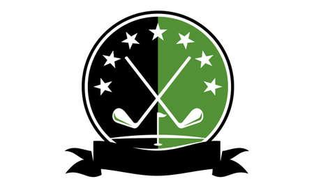 Golf Club Academy icon Vector illustration. Vettoriali