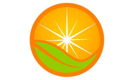 Orange icon Logo Design Template Vector