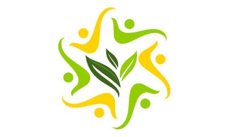 Global Ecology Solution Community Ilustração