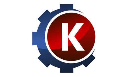 Gear icon Letter K