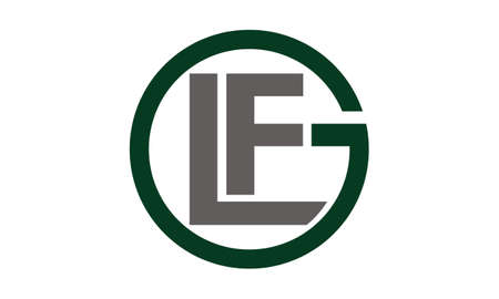 Letter GLF icon.