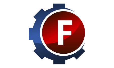Gear icon Letter F logo, Illustration