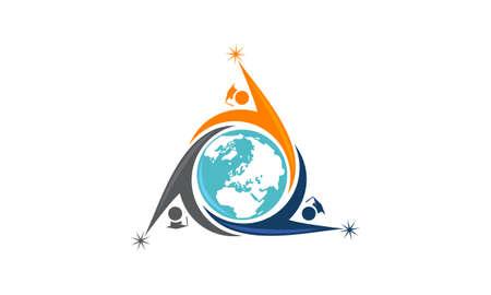 International Education logo icon vector illustration.