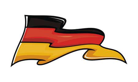 Germany flag Logo Design Template Vector Illustration