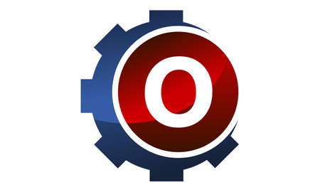 Gear icon Letter O logo icon vector illustration.