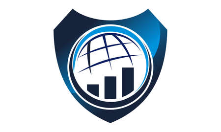 Global Business Investment Management Solution logo icon vector illustration.
