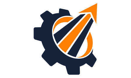 Gear Boost Business Automation logo icon vector illustration.  イラスト・ベクター素材
