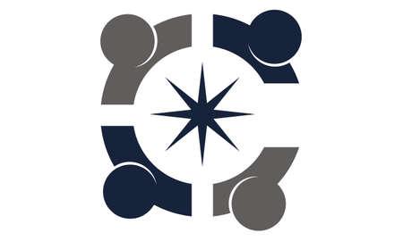 Global Solution Relationship logo icon vector illustration.