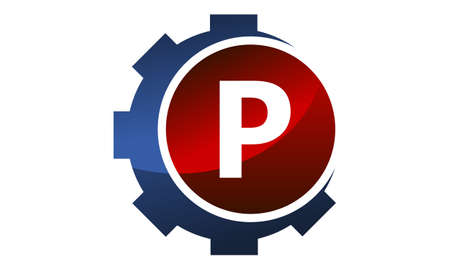 Gear icon Letter P logo icon vector illustration.