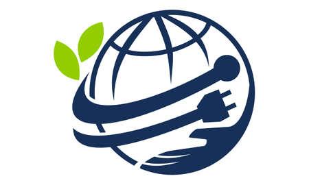World Connectivity Ecology logo icon vector illustration. Illustration