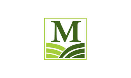 Green project solution centre initial m m m icon vector illustration Banque d'images - 91442139