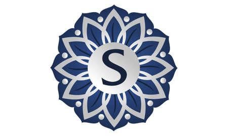 Flower Elegant icon Initial S icon logo Vector illustration.