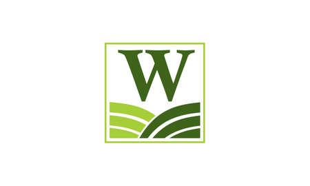 Green project solution centre w w icon logo illustration vectorielle Banque d'images - 91442396
