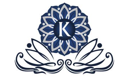 Flower Elegant icon Initial K icon logo Vector illustration.