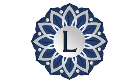 Flower Elegant icon Initial L icon logo Vector illustration.